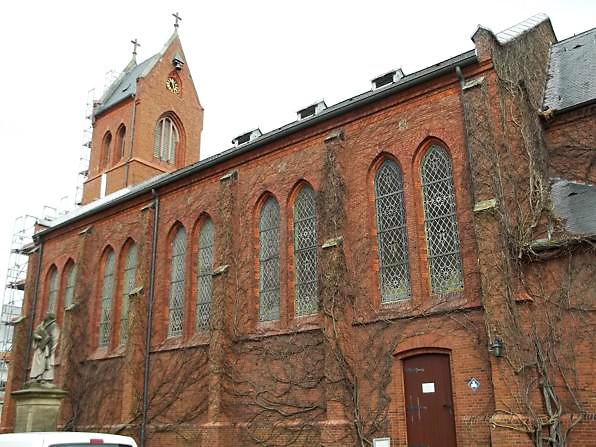 Blick auf die evangelische Kirche auf Norderney