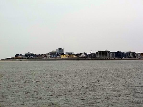 Norderney Blick von der Fähre
