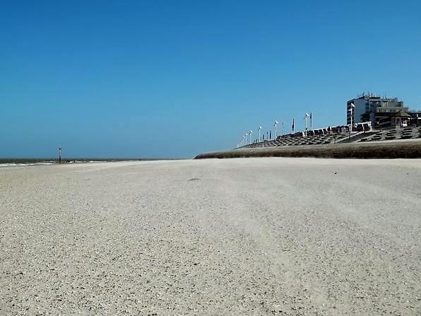 Weststrand Norderney nahe des Stadtkerns